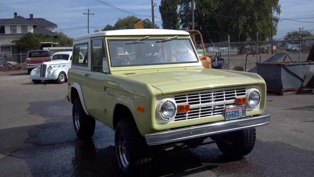 B&B Auto Repair - Yellow Early Ford Bronco Restoration