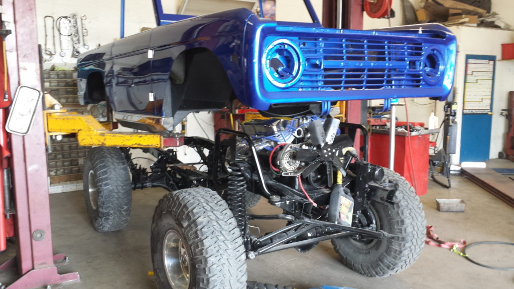 Blue Early Ford Bronco Restoration