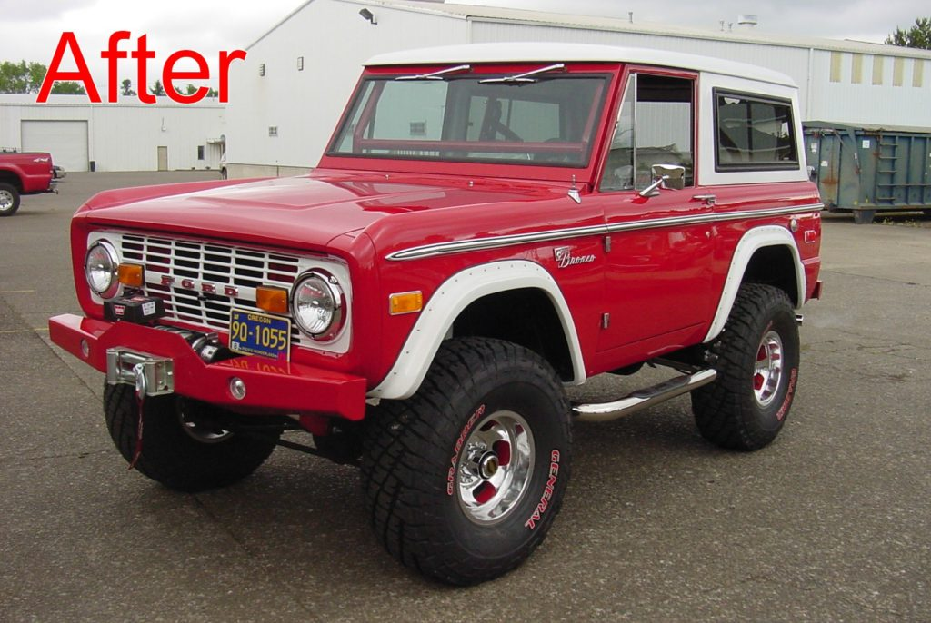 B & B Auto - Red Early Ford Bronco Restoration