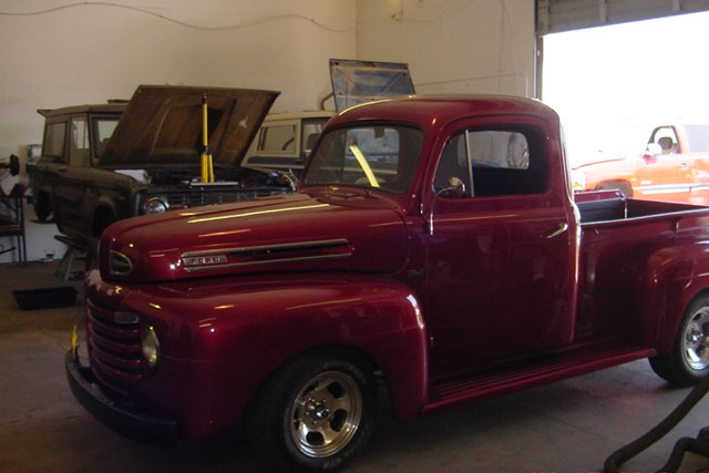 49 Ford Truck Restoration Red